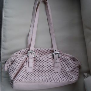 EUC..STONE MOUNTAIN Pale PINK LEATHER SHOULDER BAG